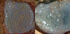 Meteorite Comparison Closeup