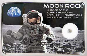 Lunar Meteorite Moon Rock
