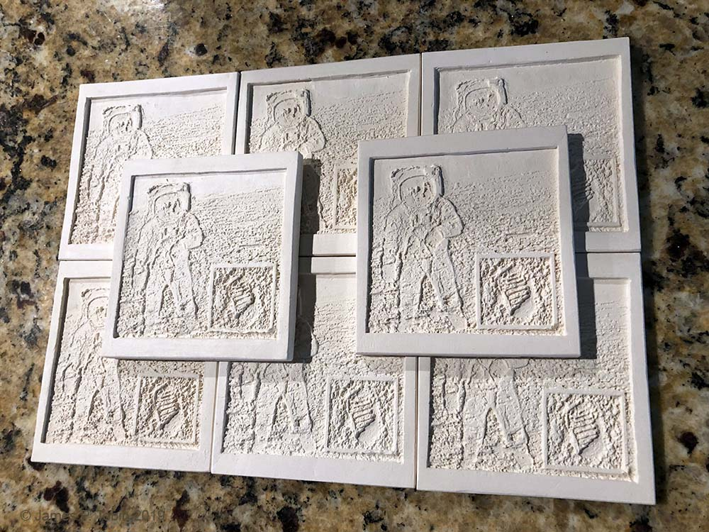 Apollo 11 Fired Tiles